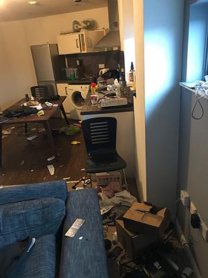 apartment - damage